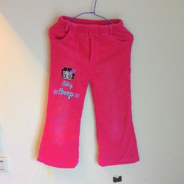 Betty燈芯絨內刷毛厚款長褲