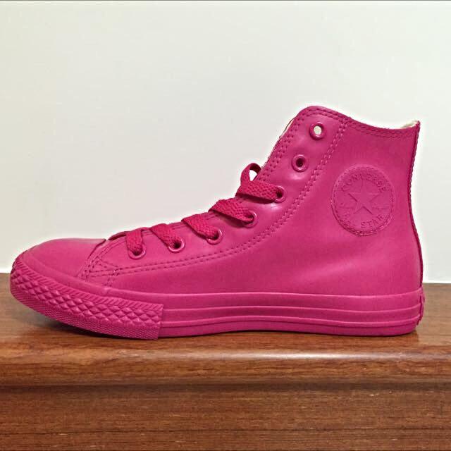 全新✨converse限量粉紅橡膠革新膠鞋 防水