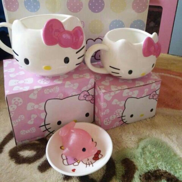 (大號)HELLO KITTY 韓版卡通陶瓷杯