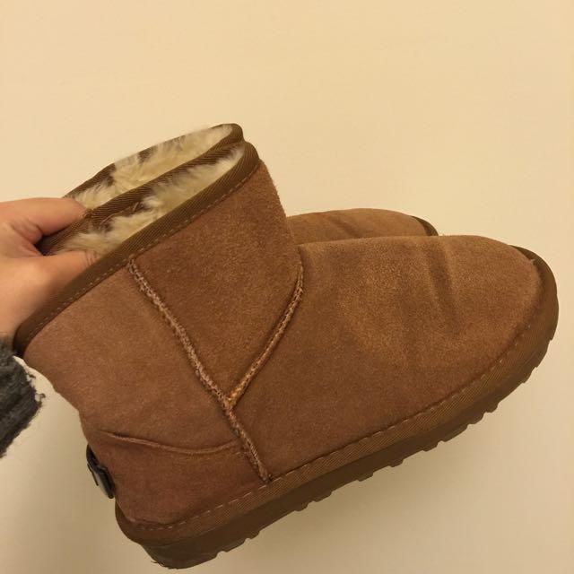 H&M 棕色雪靴(僅試穿)全新