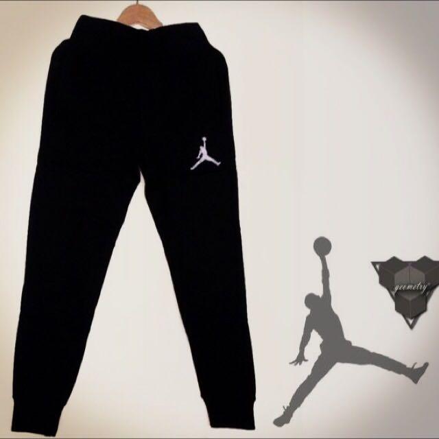 Jordan 厚磅縮口棉褲