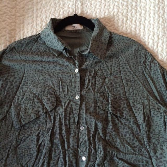Khaki Leopard Print Shirt