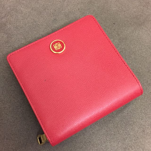 超新Loewe紅短夾