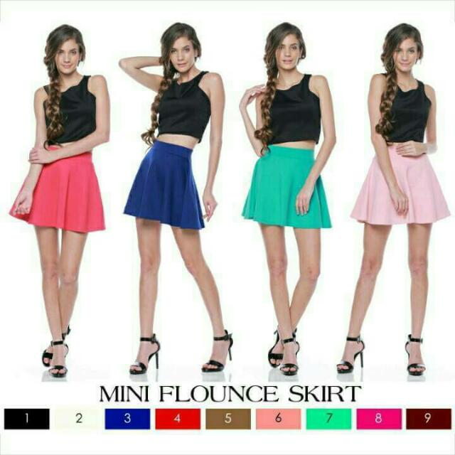 MINI FLOUNCE SKIRT