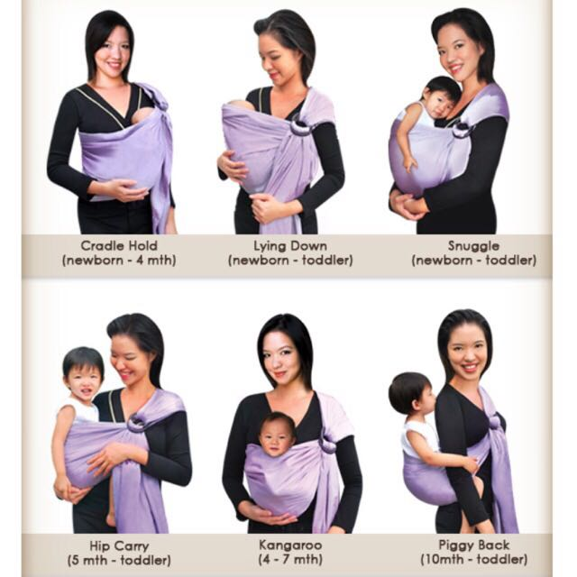 33a2a70aa52 Moms In Mind Cotton Sateen Baby Sling