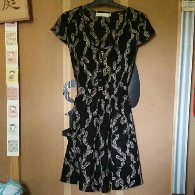 Quirky Circus Feather Summer Dress Size 8