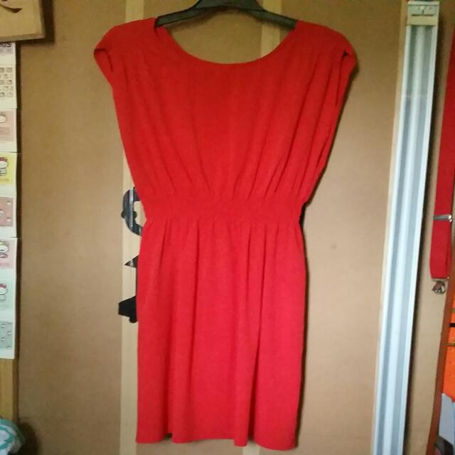 Soft Red Cocktail Dress With Pockets Size 10