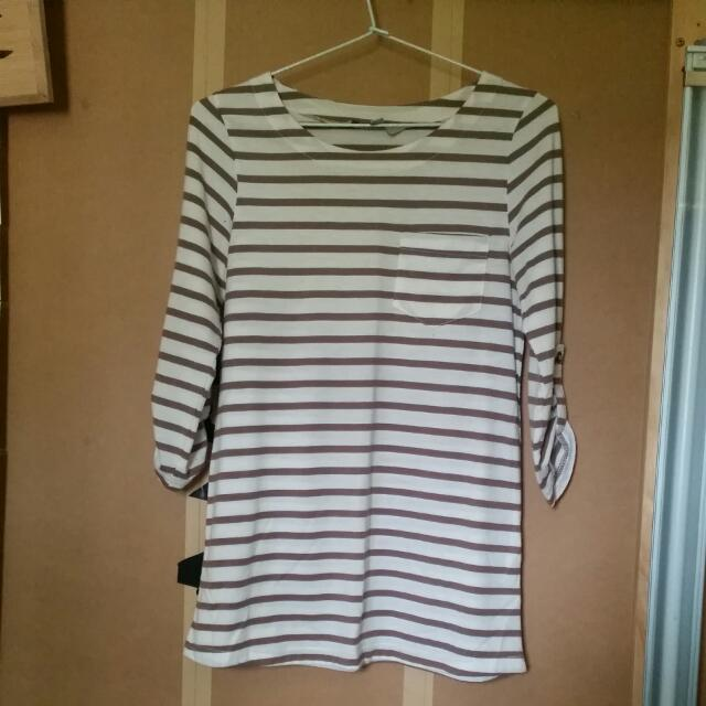 Striped Shirt With Chest Pocket Size 8