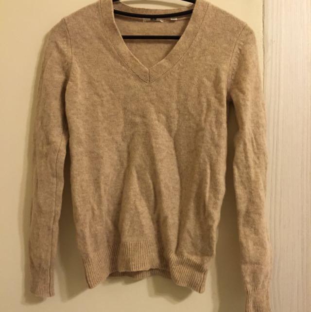 Uniqlo 100%羊毛衣 (僅試穿)