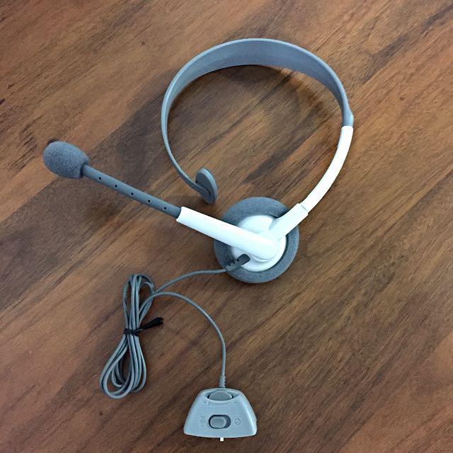 全新XBOX360 頭戴立體聲耳機麥克風 有線