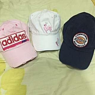 古著 老帽 棒球帽 彎帽 Dickies Adidas Le Cow Sportif 公雞 二手帽 老帽