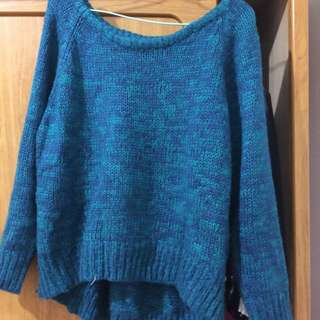 湖水藍毛線衫!