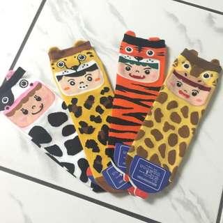 (聖誕禮物系列)動物玩偶襪子組