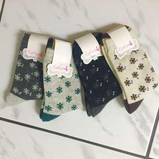 (聖誕交換禮物系列)雪花羊毛襪子組