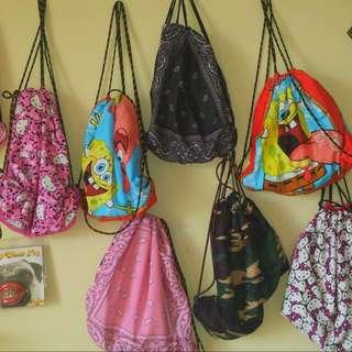 Handmade Drawstring Backpack