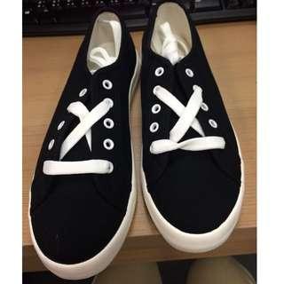 全新-純色休閒鞋-黑37