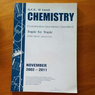 O Level Chemistry Topical TYS