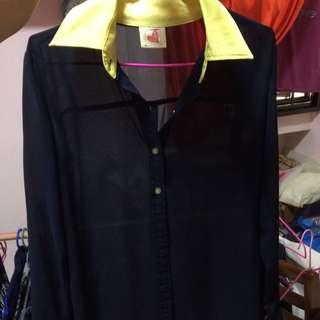 Long Sleeves Chiffon Shirt