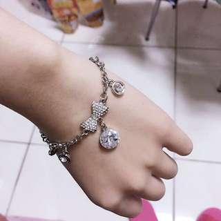 蝴蝶結鑽石手鍊