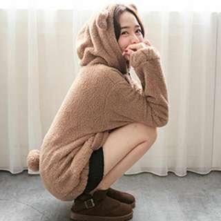 ★新☆冬季卡哇依QQ絨毛熊拉鏈外套