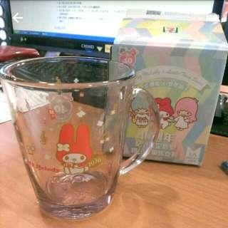 🔼40週年紀念玻璃杯 美樂蒂 雙子星