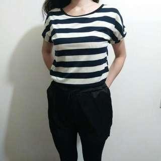 條紋連身短褲