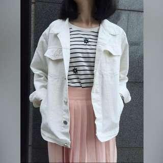 ❤️miss p&y白色單寧外套
