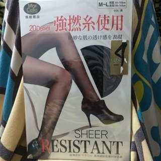 瑪榭襪品 九分長絲襪 黑色