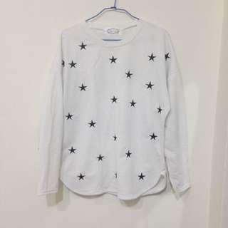 星星✨長袖白T