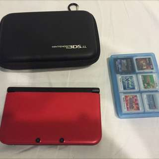 Nintendo 3DS LL日規機外加Hori收納包以及八款遊戲(包郵)