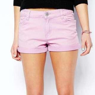 0ebeaa750 BNWT Brave Soul Pastel Pink Denim Shorts UK Size 14