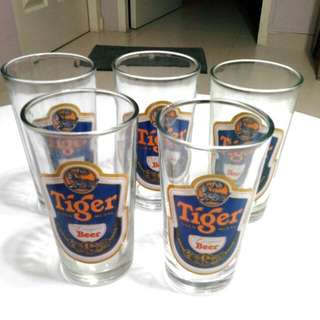 Tiger beer glass, Guinness glass, Whiskey  glass