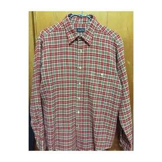 韓版紅格紋襯衫