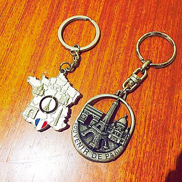 全新✨巴黎帶回鑰匙圈