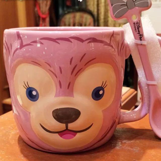 香港迪士尼代購雪莉玫附湯匙馬克杯