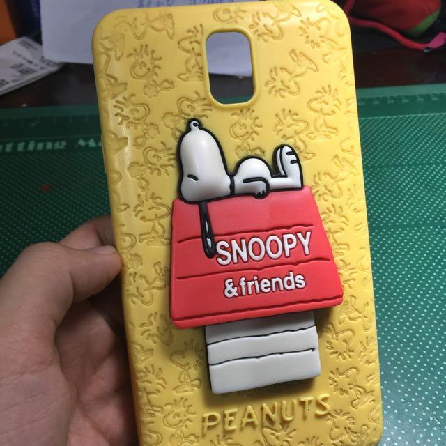 二手 note3 snoopy 史努比 手機套 手機殼 黃色