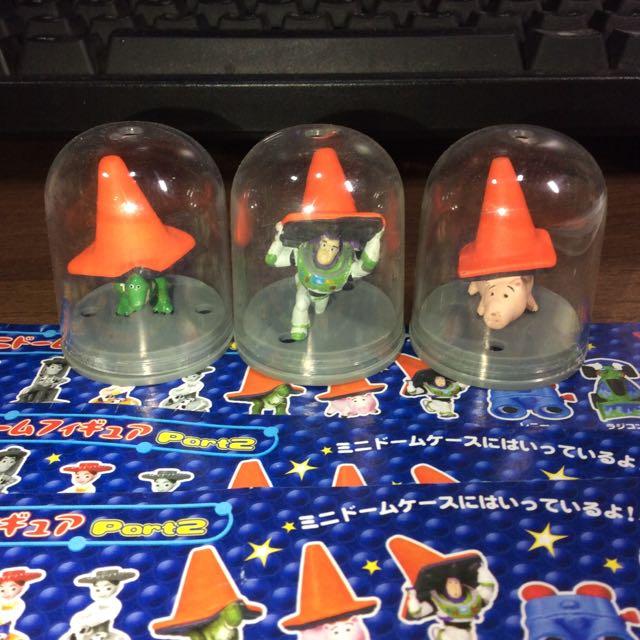 玩具總動員 yujin 絕版扭蛋 角錐組