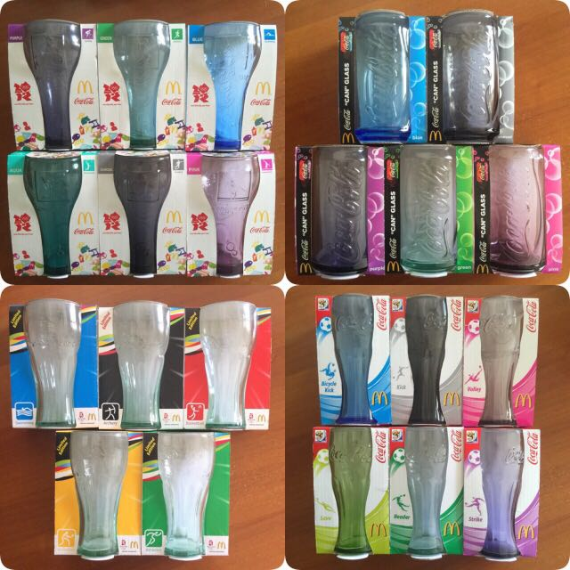 All 4 Sets McD Coke Glass