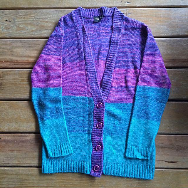 Asos 復古毛線針織外套 藍紫色系