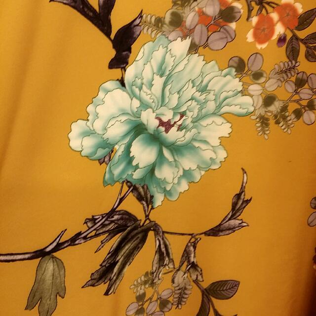 097c26c3c BN Modcloth Bea & Dot Mustard Oriental Floral Skirt Size L, Women's Fashion  on Carousell