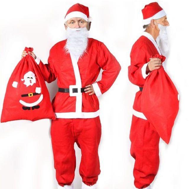 COSPLAY 聖誕老公公簡易道具服 耶誕節表演服 經濟款