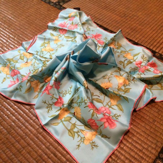 jim thompson泰絲、絲巾、方巾、湖水藍