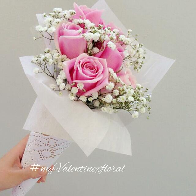 Cones Of Flowers - 2016 Valentines Flowers / Valentines Hand Bouquet ...