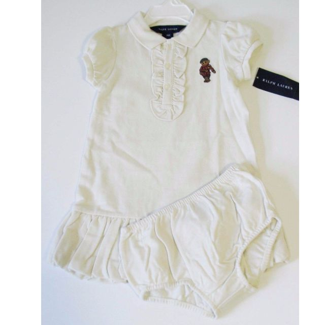 3e88db7d88d1a Brand New with Tags Authentic Ralph Lauren Baby Girls Polo Bear ...