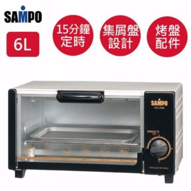 全新SAMPO聲寶小烤箱(KZ-LA00) 只有一台哦!