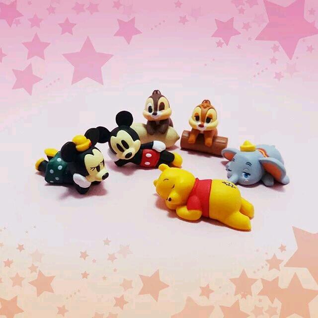 T-arts迪士尼休眠人物(維尼奇奇蒂蒂米奇米妮小飛象),只有1組,全新未拆