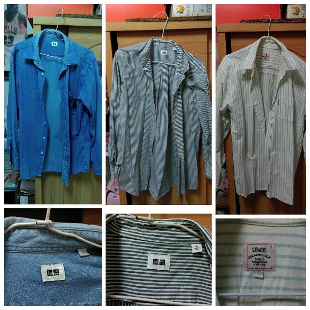 uniqlo 襯衫 (三件合賣)