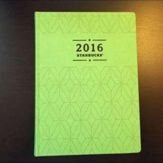 2016 星巴克年曆 綠色