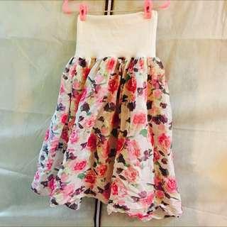 花花長裙可當平口小洋裝