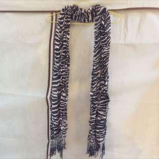 斑馬紋圍巾
